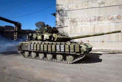 Артиллерия сил АТО накрыла колонну бронетехники «русских»