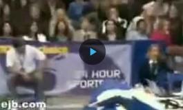 Не самый удачливый гимнаст (видео)