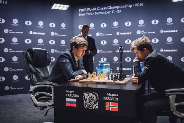 Тай-брейк матча Карлсен— Карякин— сегодня впрямом эфире «МатчТВ»
