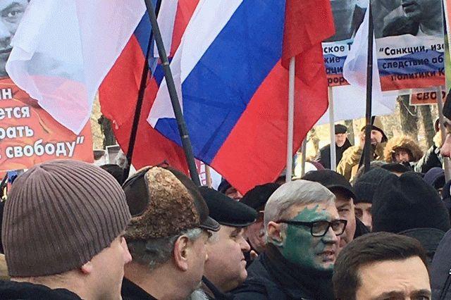 В столице состоялся оппозиционный «Марш Бориса Немцова»