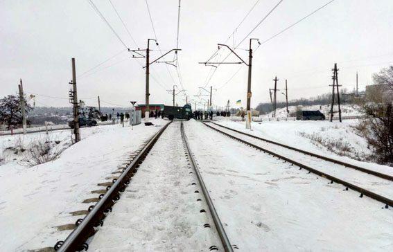 Активисты перекрыли железнодорожный переезд около Бахмута— коммерческая блокада Донбасса