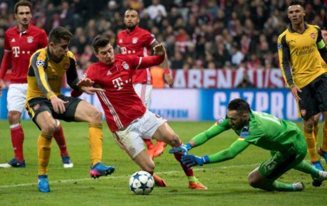 «Бавария» вгостях разгромила «Арсенал» ивышла в ¼ финалаЛЧ