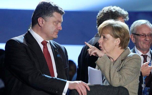Порошенко подытожил успехи встречи сМеркель