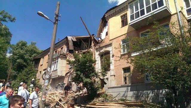 В результате взрыва в Голосеевском районе столицы погибла женщина (ФОТО)