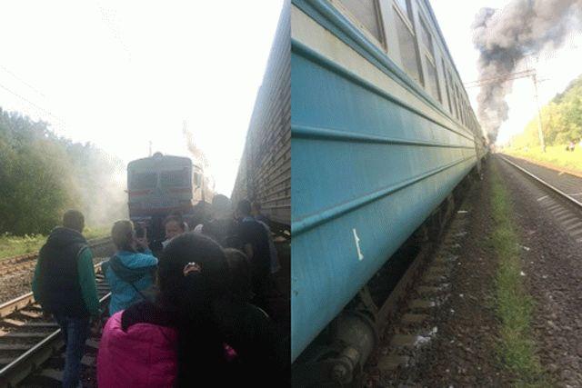ВКиевской области зажегся поезд