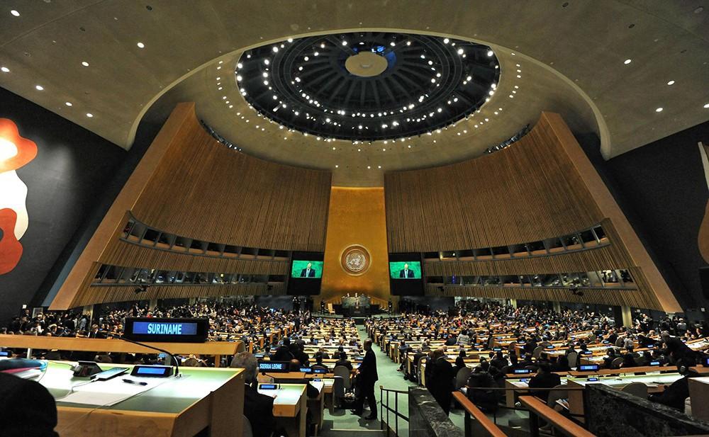 Убирайтесь изКрыма иДонбасса: Украина вмеждународной организации ООН поставила наместо Российскую Федерацию