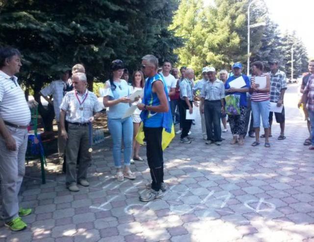 В «ЛНР» спортсмен нанаграждении развернул флаг Украинского государства