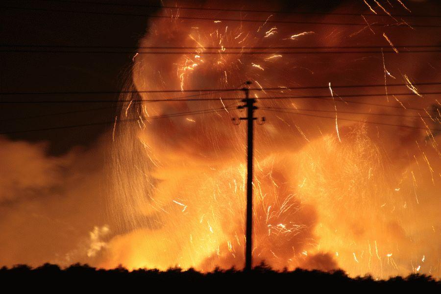 ВВинницкой области из-за пожара эвакуированы около 30 тысяч человек