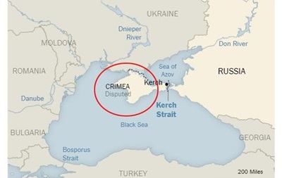 New York Times напечатала карту Украинского государства, накоторой Крым— спорная территорияя