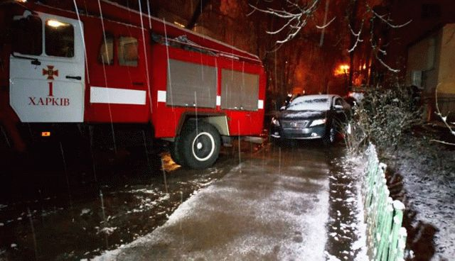 ВХарькове взорвали служебный автомобиль смайором милиции внутри