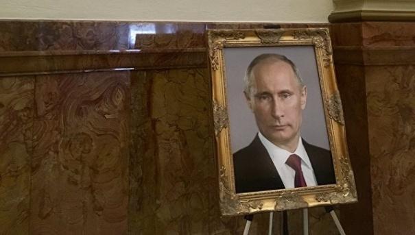В США в здании капитолия разместили портрет Путина