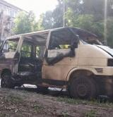 Сгоревший Микроавтобус Депутата Виталия Чернявского-1
